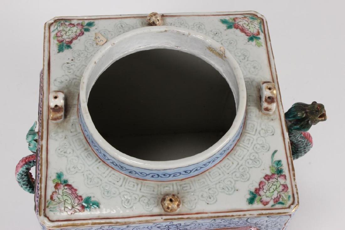 Rare and Unusual Chinese Qianlong Period Tea Pot, - 10