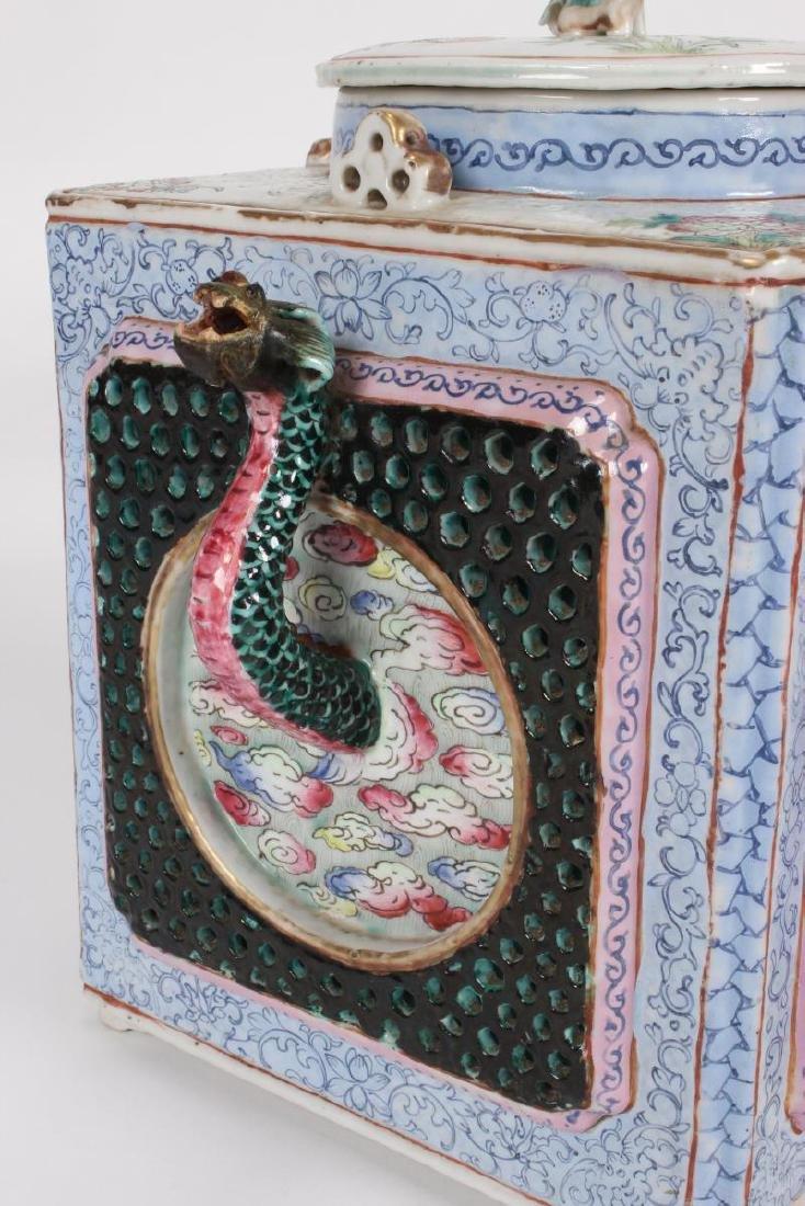 Rare and Unusual Chinese Qianlong Period Tea Pot, - 2