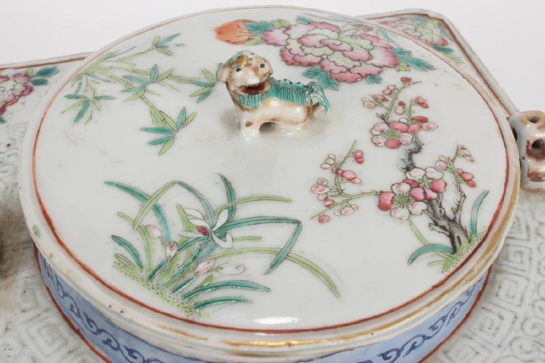 Rare and Unusual Chinese Qianlong Period Tea Pot, - 7