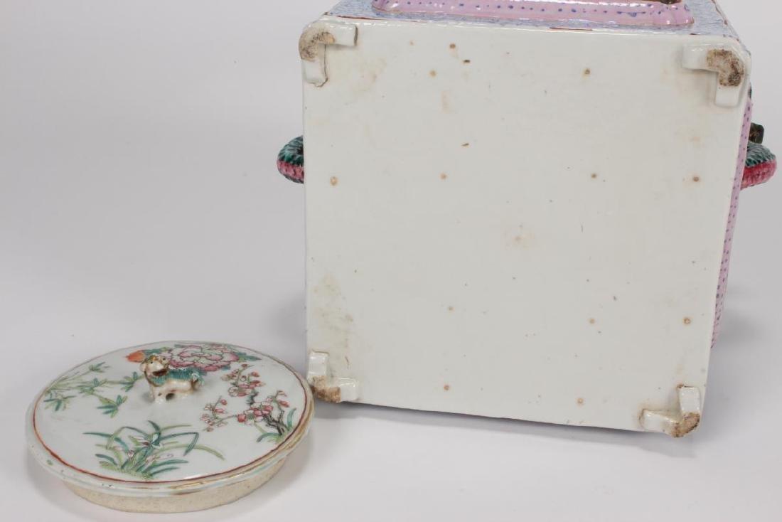 Rare and Unusual Chinese Qianlong Period Tea Pot, - 8