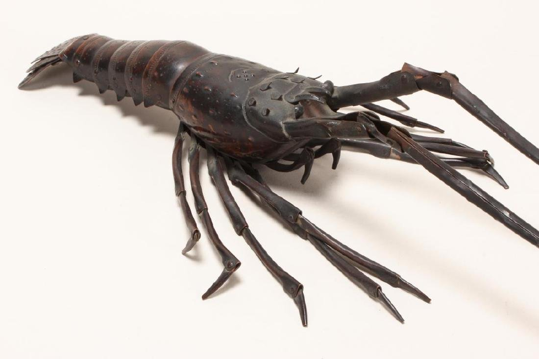Wonderful Japanese Meiji  Articulated Lobster, - 4