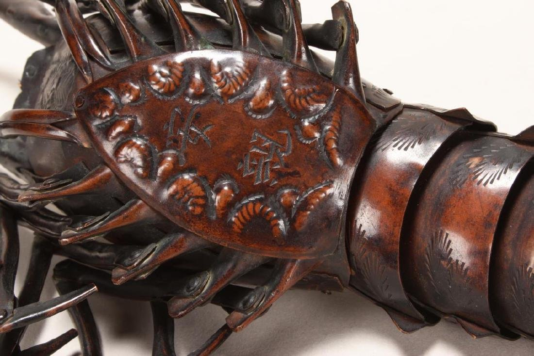 Wonderful Japanese Meiji  Articulated Lobster, - 6