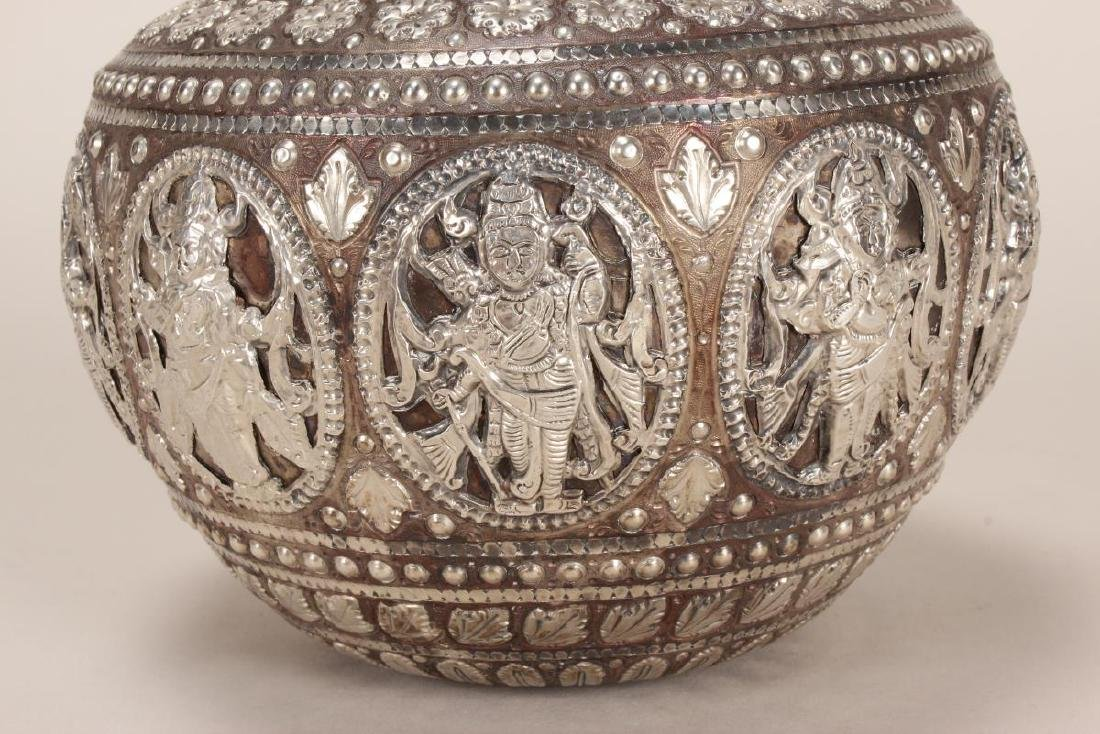 Fine and Stunning Indian Puja Vase, - 2