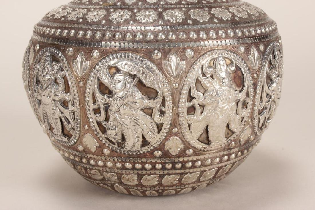 Fine and Stunning Indian Puja Vase, - 3