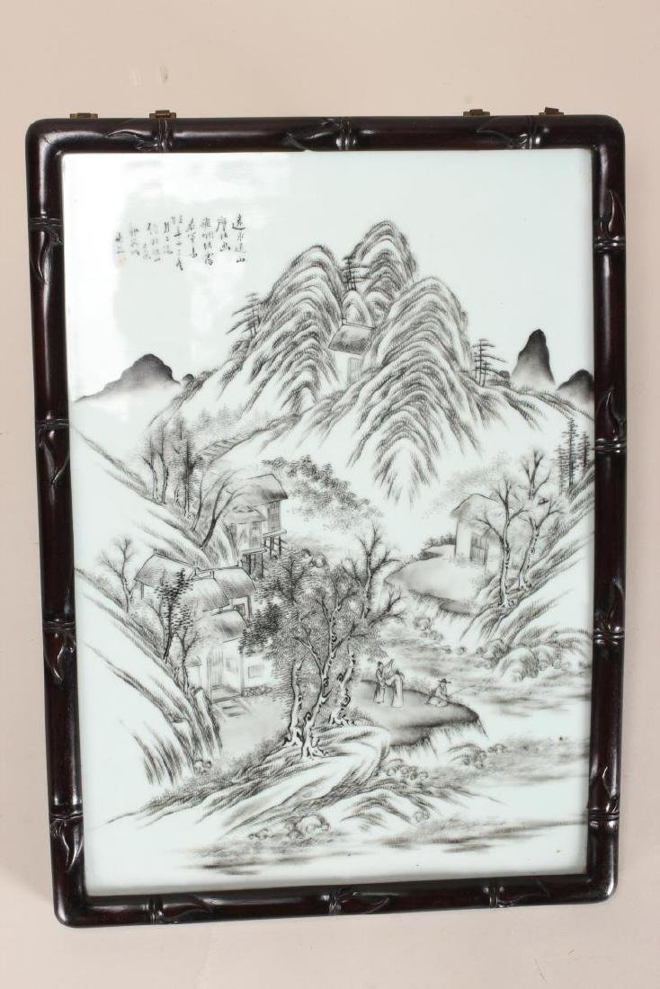 Good Chinese Painted Porcelain Panel,