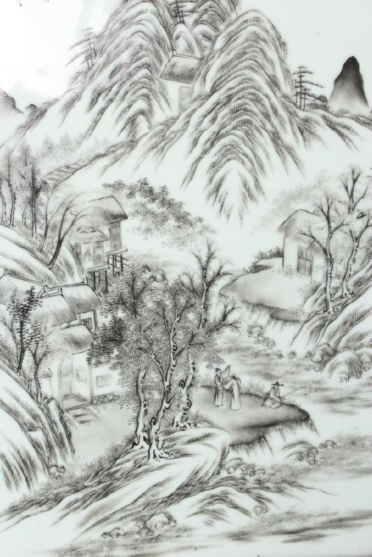 Good Chinese Painted Porcelain Panel, - 2