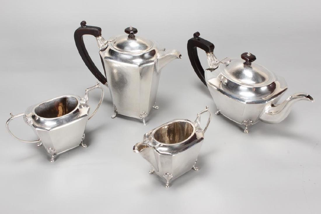 Chinese Silver Four Piece Tea and Coffee Service,