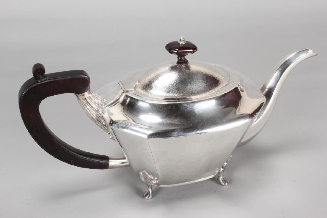 Chinese Silver Four Piece Tea and Coffee Service, - 5