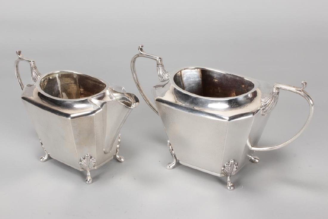 Chinese Silver Four Piece Tea and Coffee Service, - 6