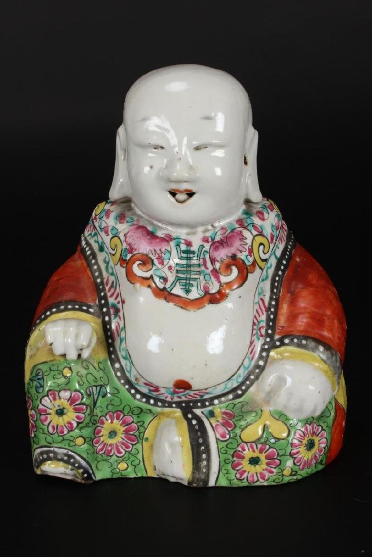 Pair of Chinese Qing Dynasty Exportware Figures, - 6