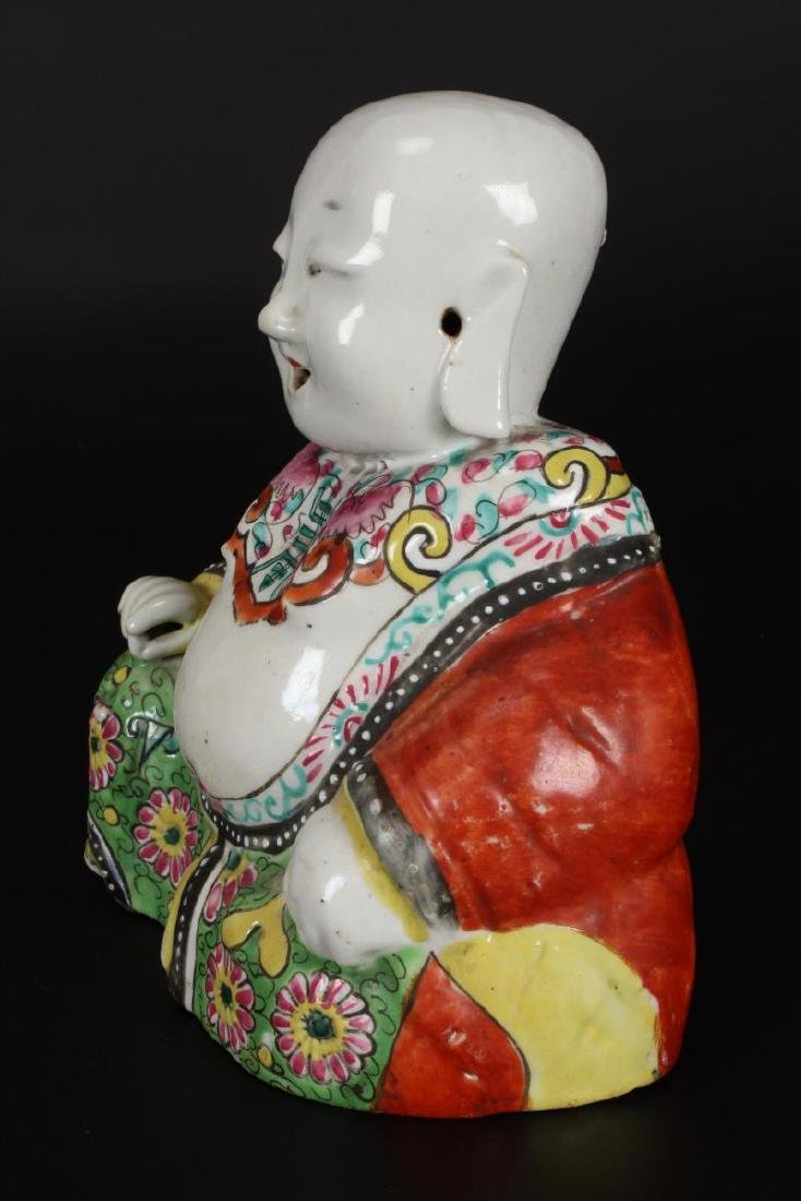 Pair of Chinese Qing Dynasty Exportware Figures, - 7
