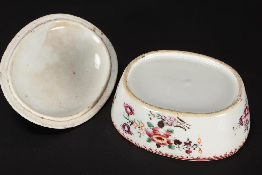 Chinese Qing Dynasty Export Dish and Cover, - 3