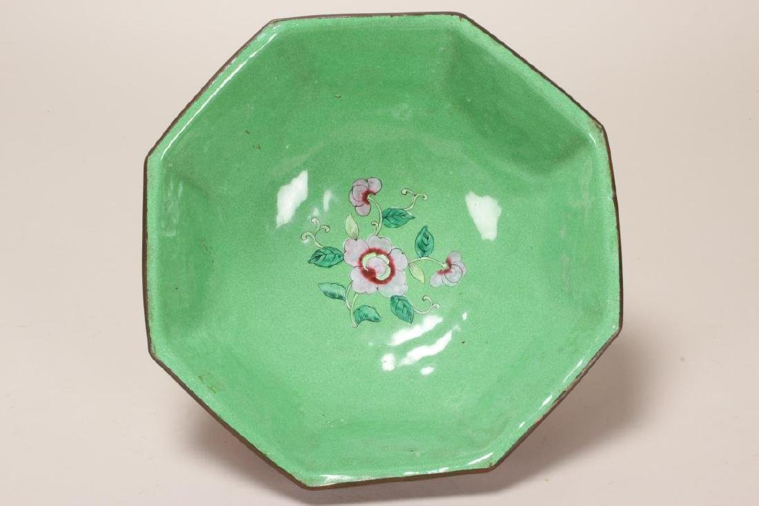 Large Chinese Enamel Bowl, - 4