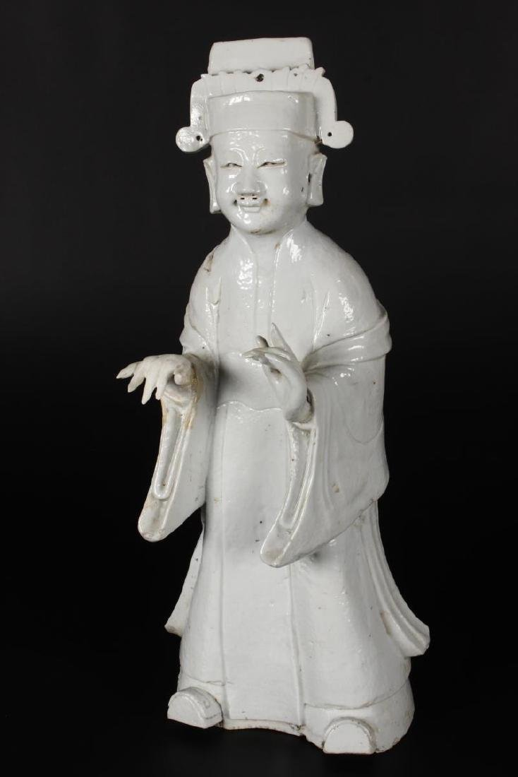 Chinese Qing Dynasty Blanc De Chine Figure,