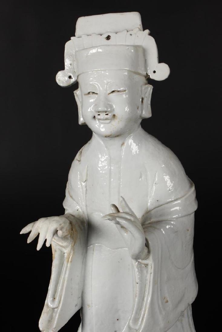 Chinese Qing Dynasty Blanc De Chine Figure, - 2