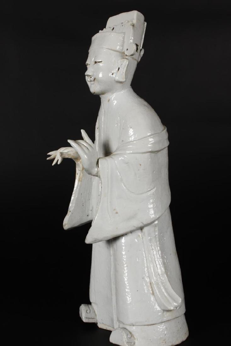 Chinese Qing Dynasty Blanc De Chine Figure, - 3