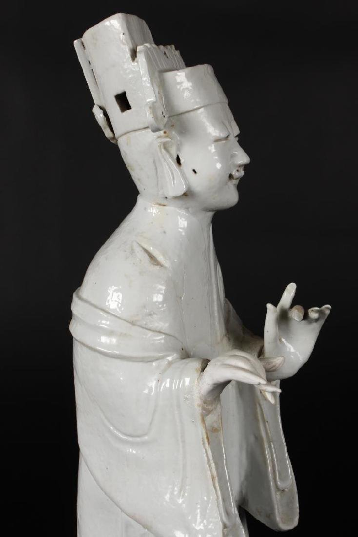 Chinese Qing Dynasty Blanc De Chine Figure, - 4