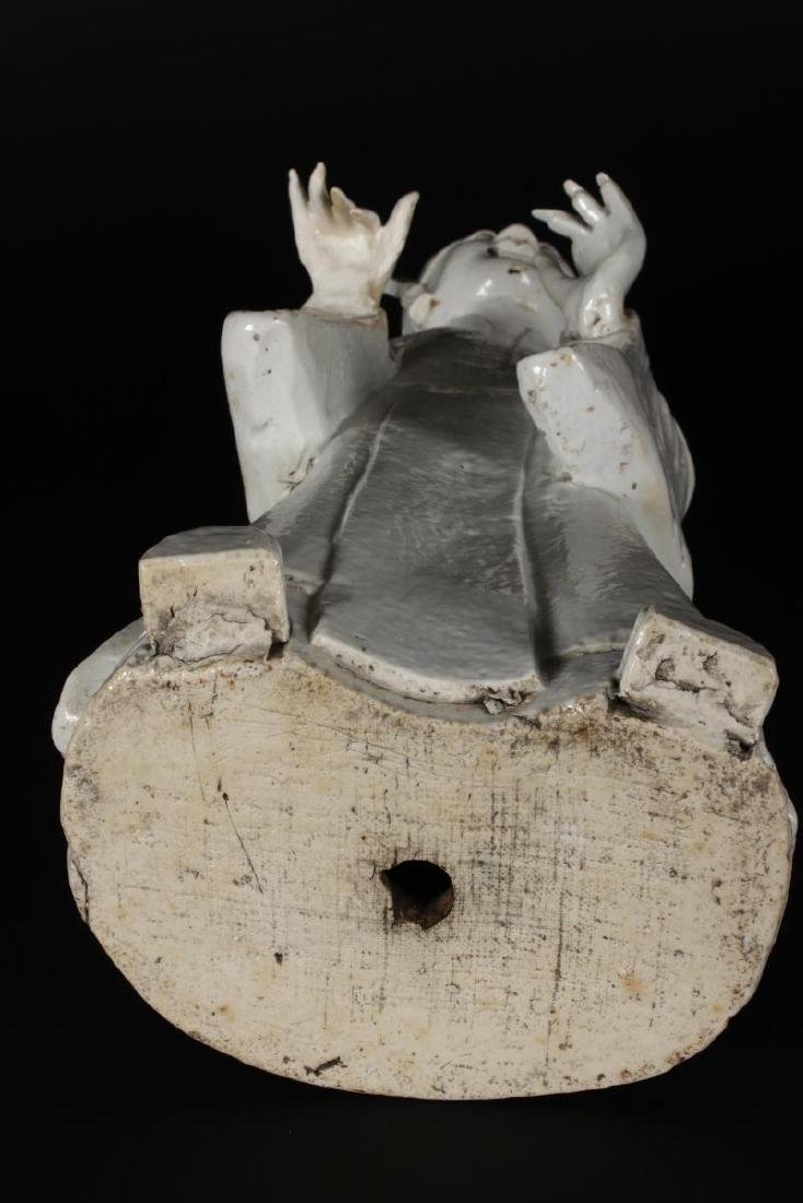 Chinese Qing Dynasty Blanc De Chine Figure, - 6