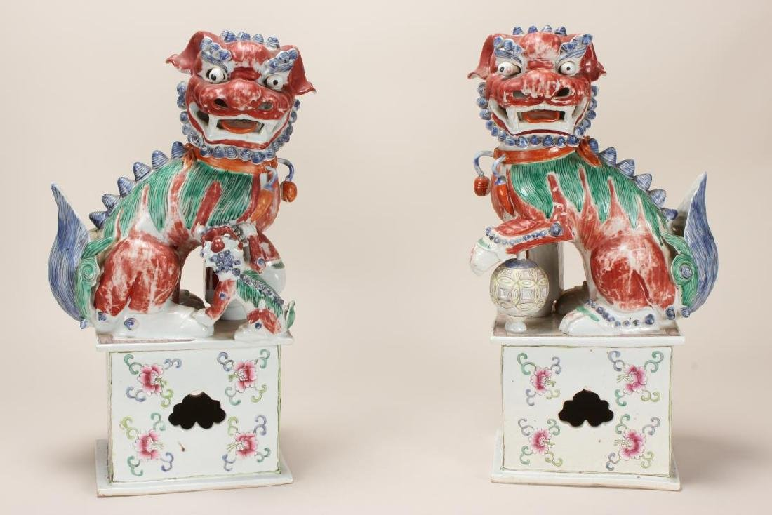 Large Pair of Chinese Early 20th Century Export