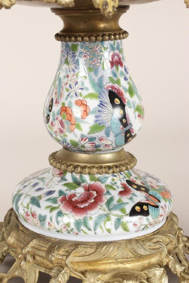 Chinese/French Porcelain and Ormolu Tazza, - 3