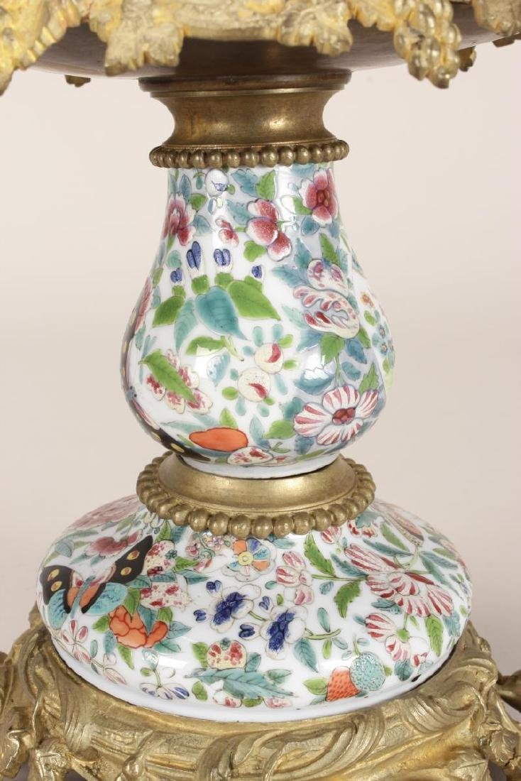 Chinese/French Porcelain and Ormolu Tazza, - 4