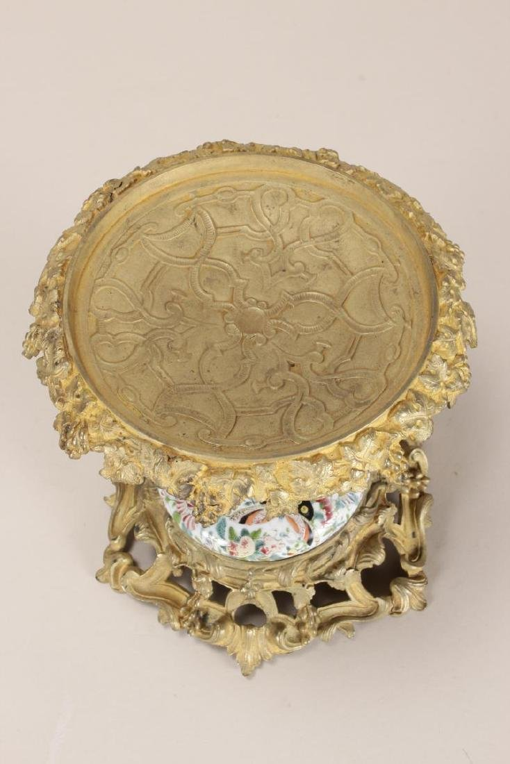 Chinese/French Porcelain and Ormolu Tazza, - 5