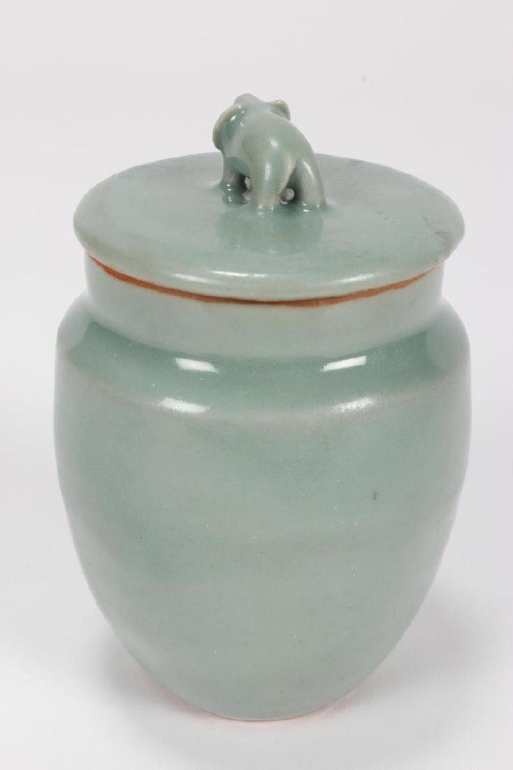 Chinese Song Dynasty Lonquan Jar and Cover, - 4