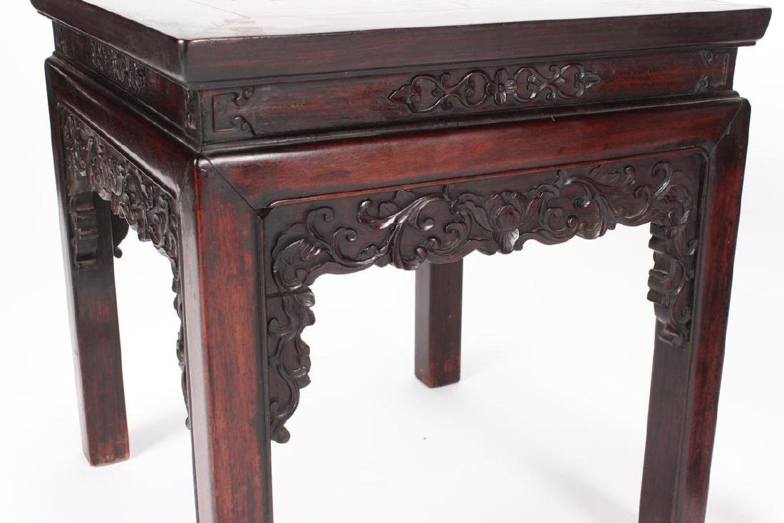 Pair of Chinese Carved Occasional Tables, - 2