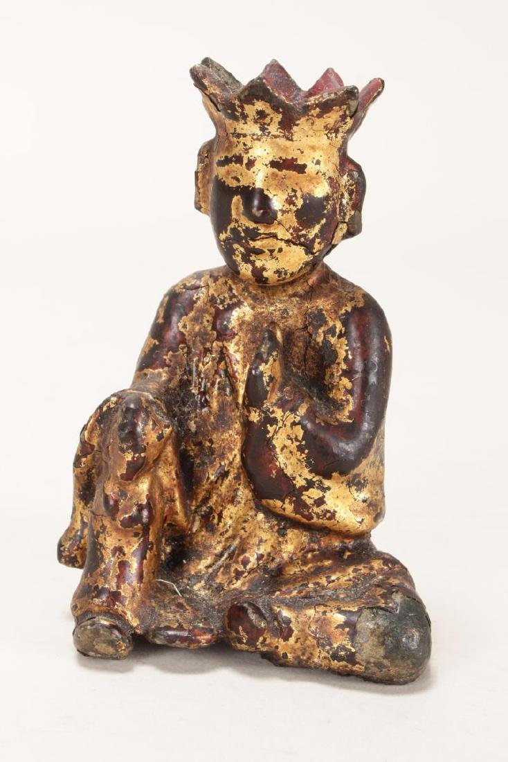 Chinese Ming Dynasty Iron and Lacquered Monk,