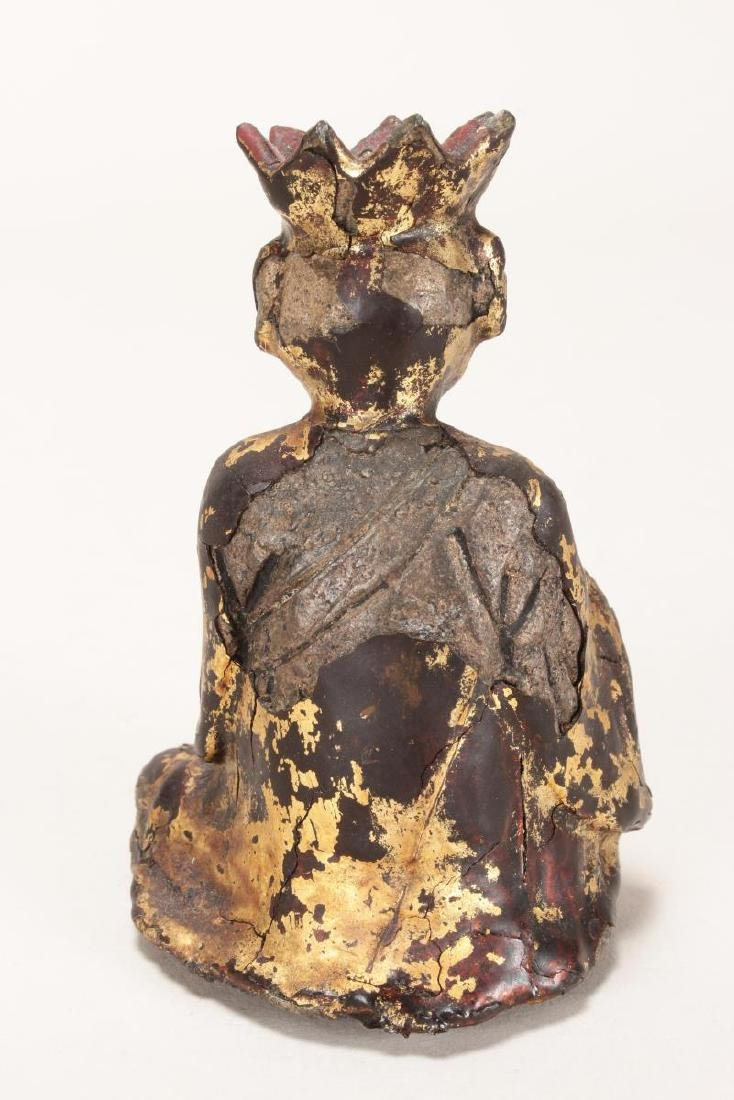 Chinese Ming Dynasty Iron and Lacquered Monk, - 4
