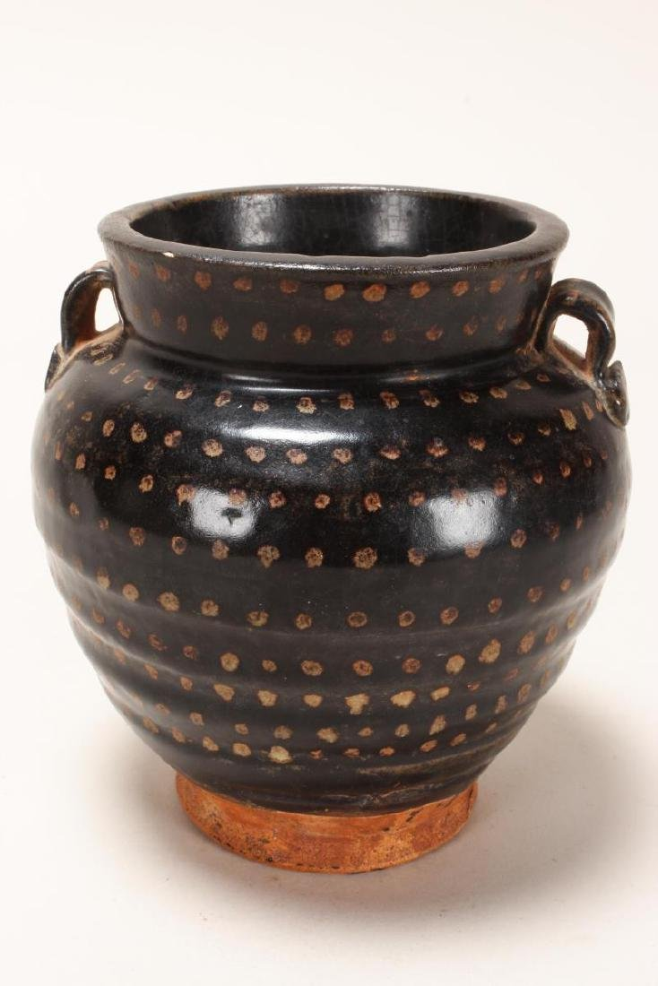 Early Chinese Brown Glaze Jar,