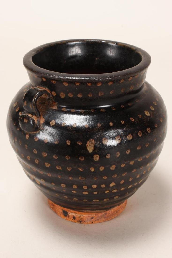Early Chinese Brown Glaze Jar, - 2