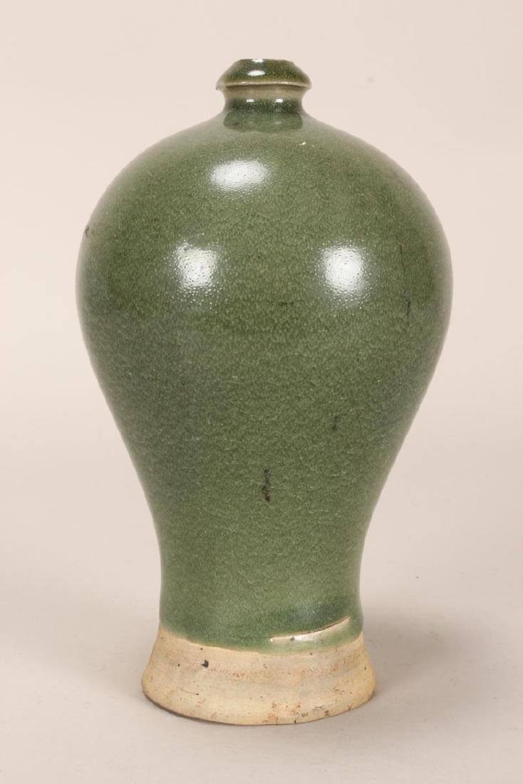 Chinese Celadon Meiping Vase, - 2