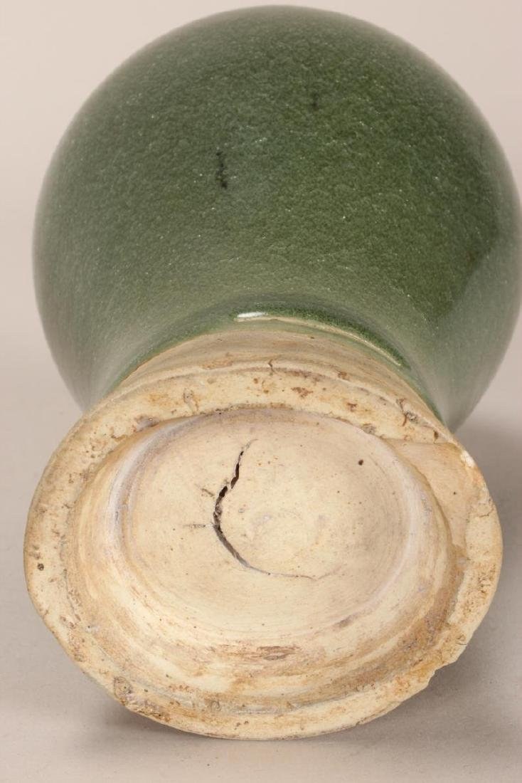 Chinese Celadon Meiping Vase, - 3