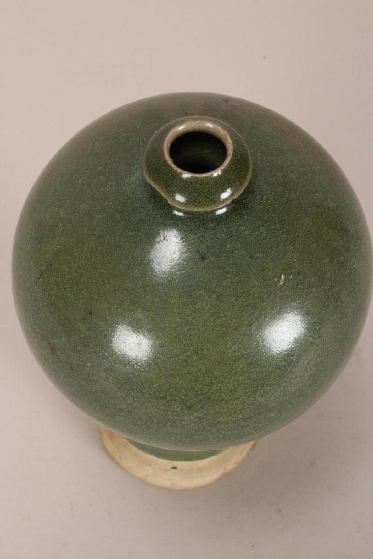 Chinese Celadon Meiping Vase, - 4