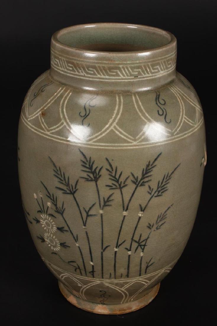 Late Goryeo Celadon Vase, - 2