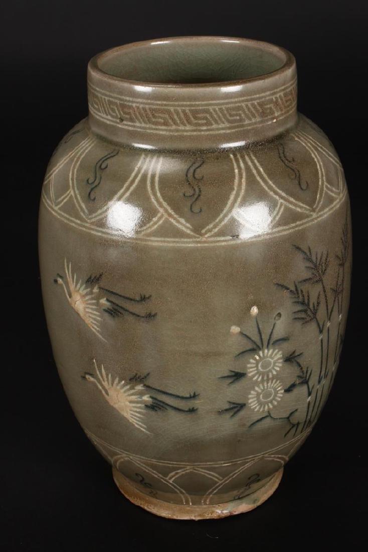 Late Goryeo Celadon Vase, - 3