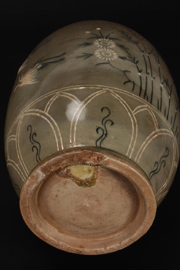 Late Goryeo Celadon Vase, - 4