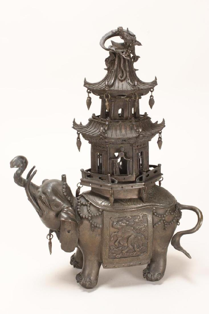 Wonderful Bronze Elephant Incense Burner,