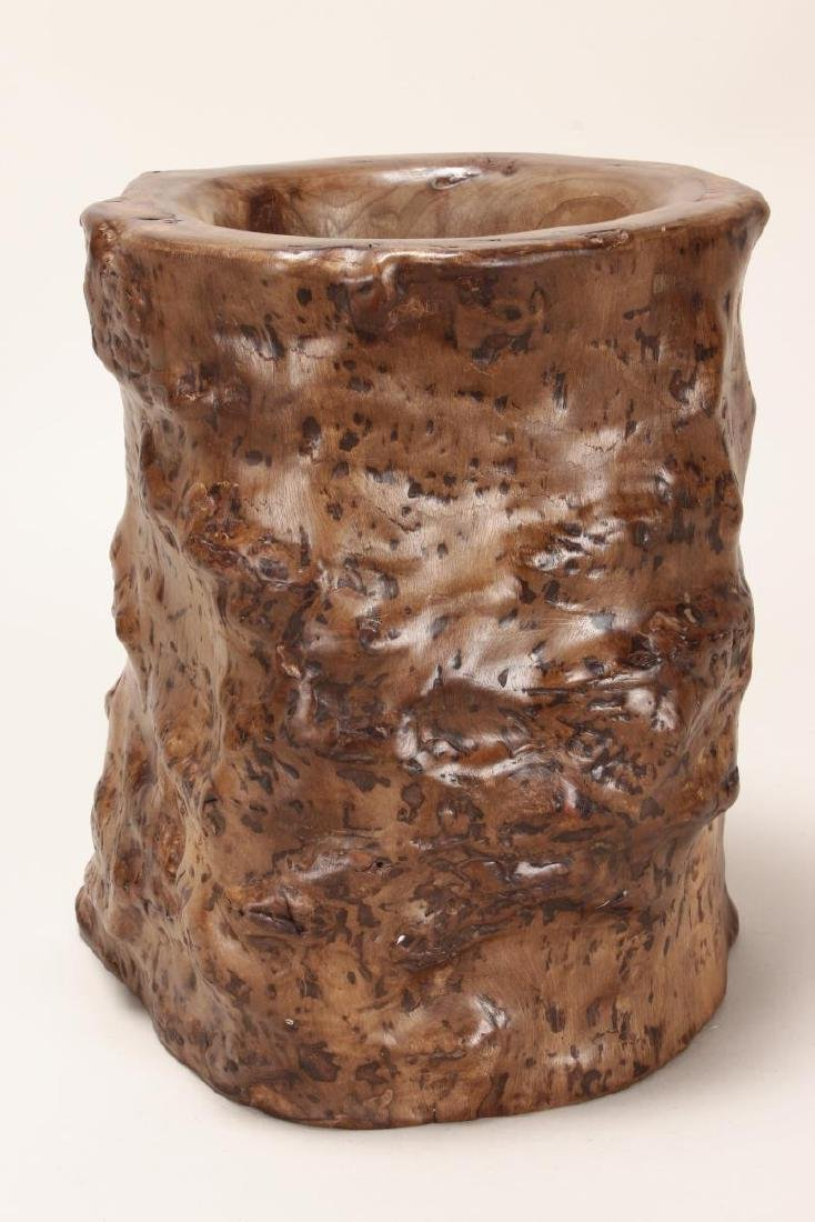 Large Chinese Rootwood Brush Pot, - 2