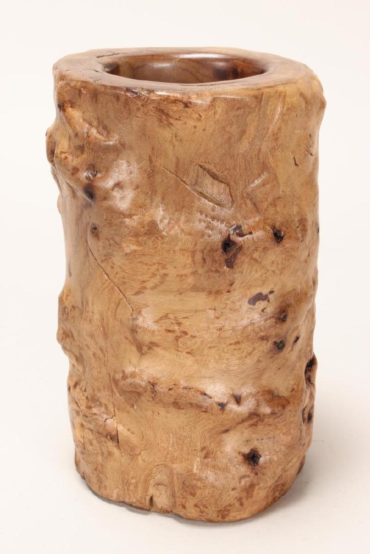Chinese Rootwood Brush Pot, - 2