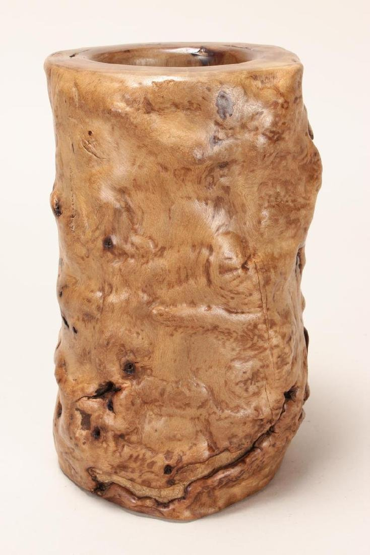 Chinese Rootwood Brush Pot, - 3