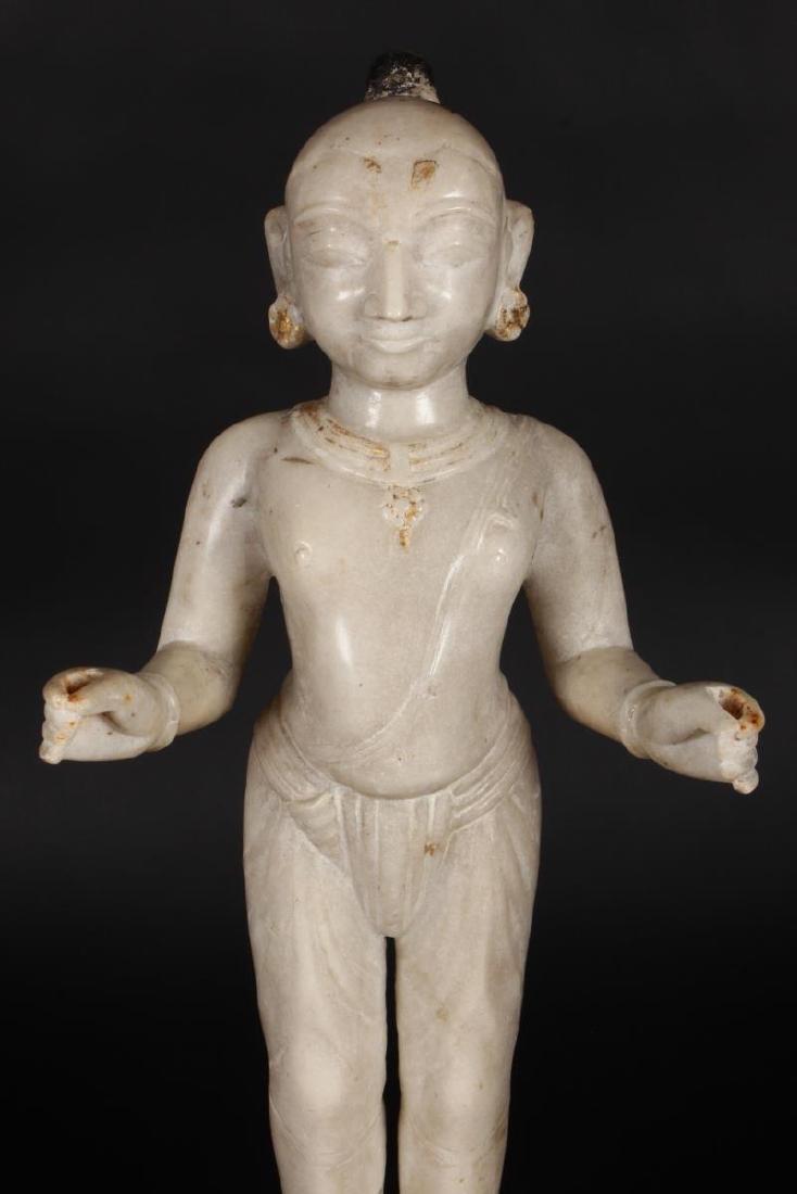 Large Jain Carved Marble Figure of Tirthankara, - 2