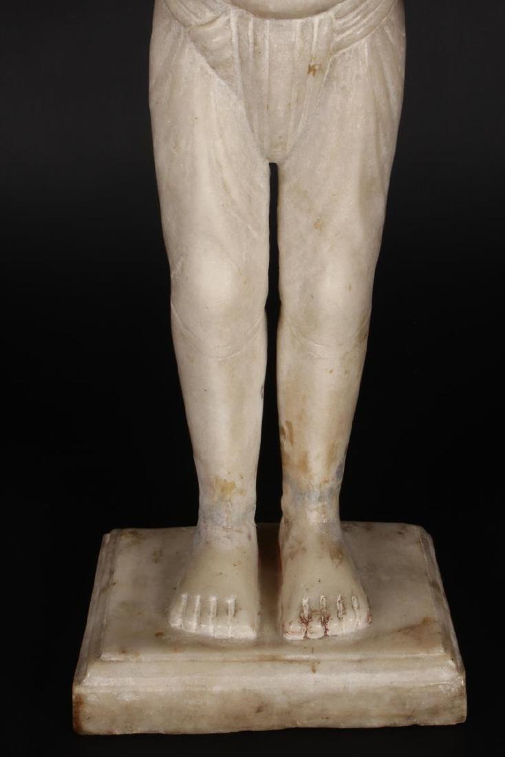 Large Jain Carved Marble Figure of Tirthankara, - 3