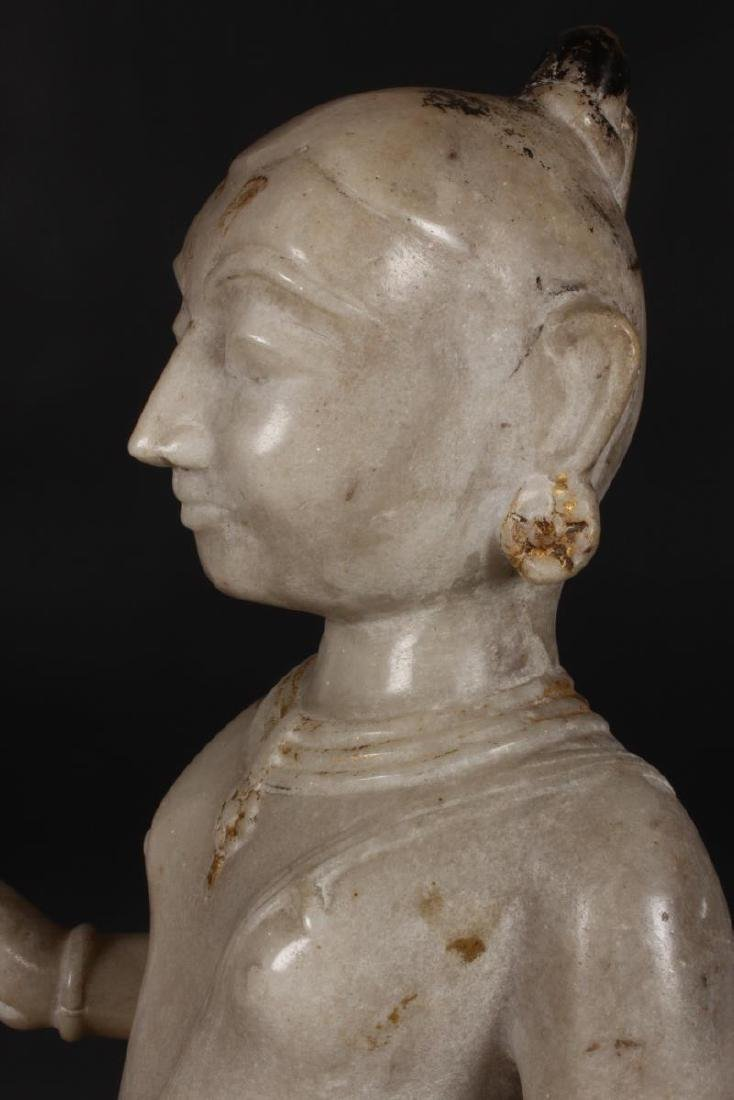 Large Jain Carved Marble Figure of Tirthankara, - 6