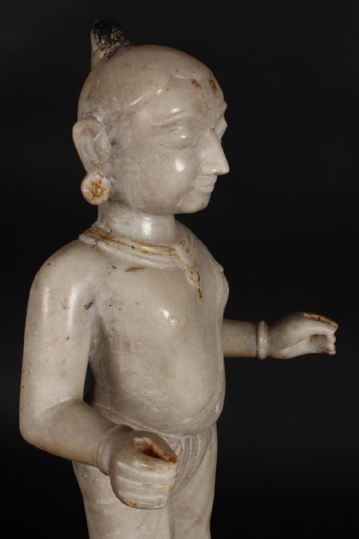 Large Jain Carved Marble Figure of Tirthankara, - 8