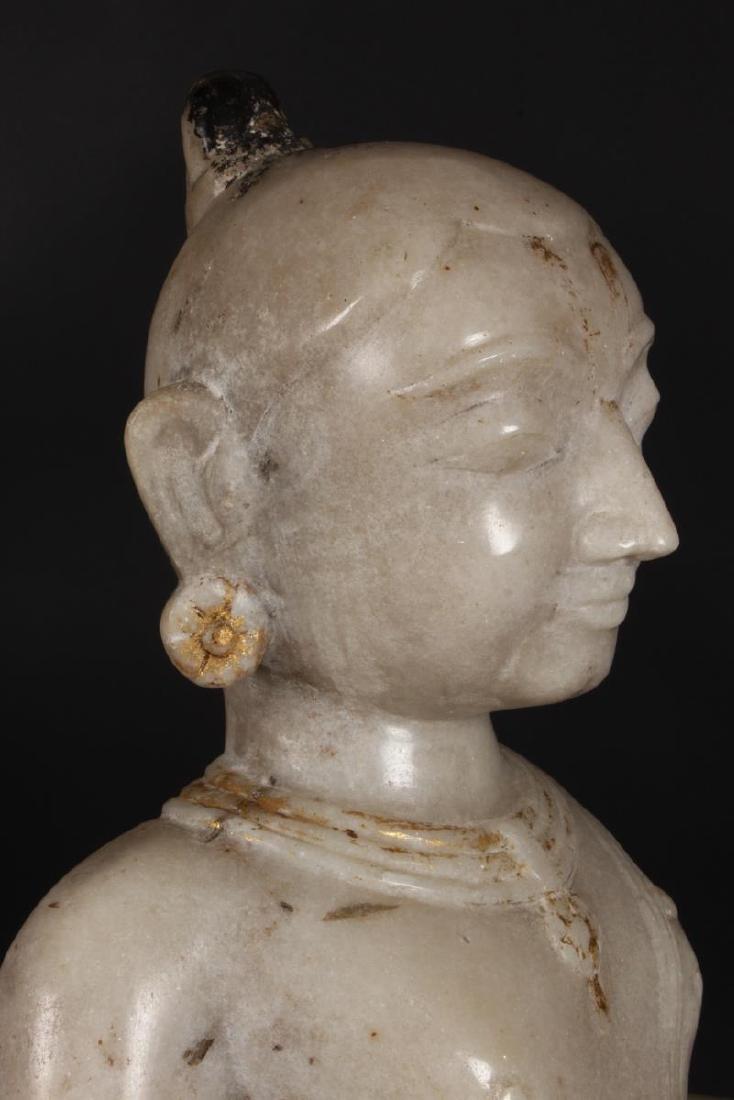 Large Jain Carved Marble Figure of Tirthankara, - 9