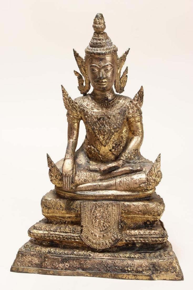 Early 20th Century Gilt Bronze Buddha,