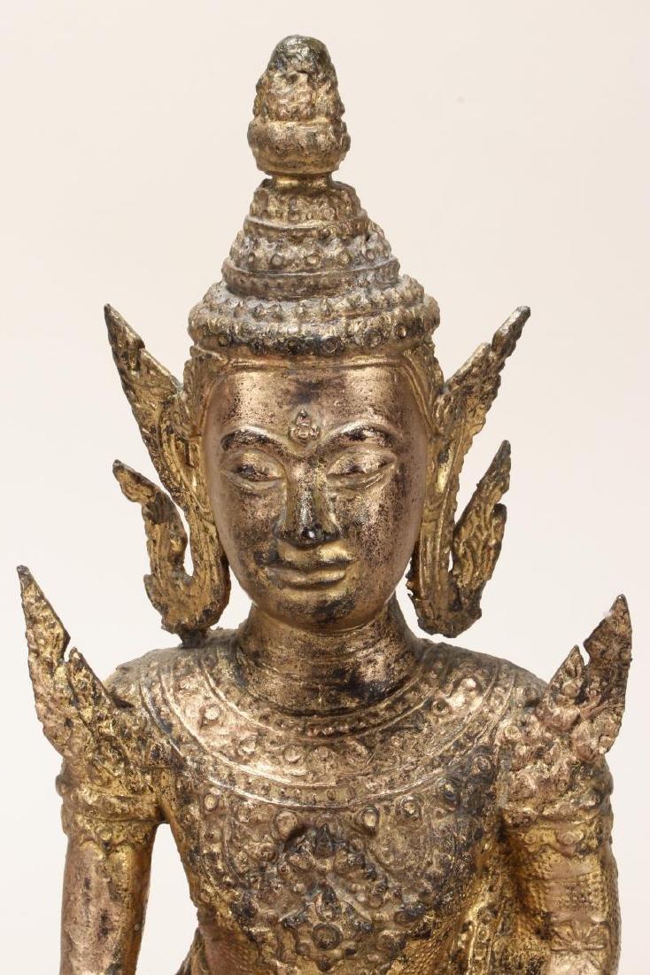 Early 20th Century Gilt Bronze Buddha, - 2