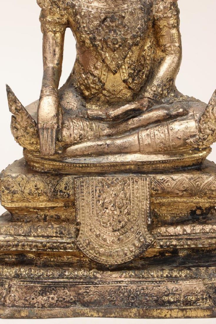 Early 20th Century Gilt Bronze Buddha, - 3
